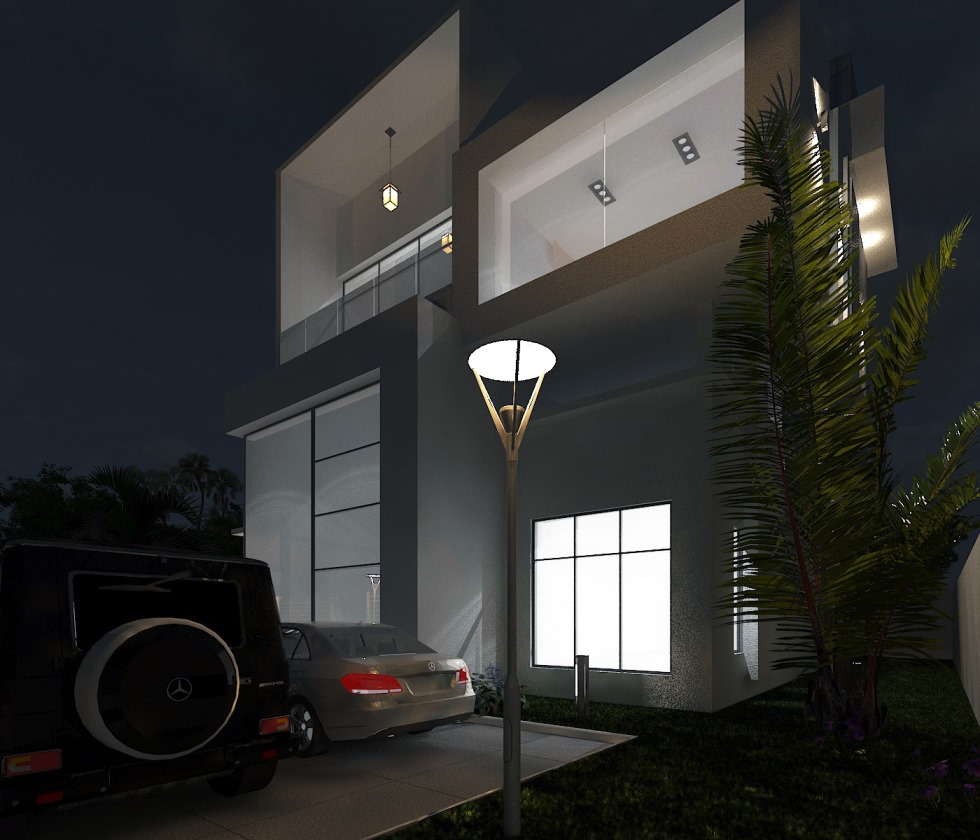 Residential Building at Elegushi Ikate. Designed and Rendered for ABI Project Concepts