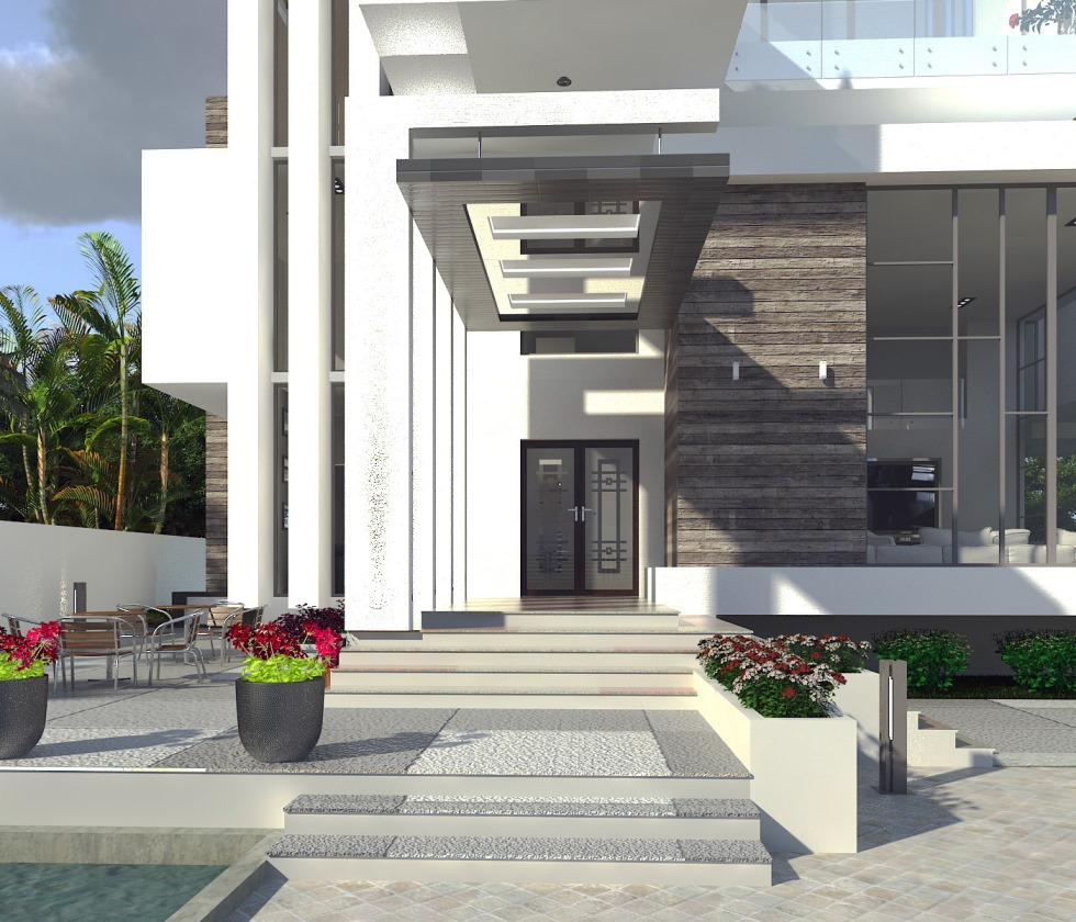 Residential Building in Pinnock Estate. Designed and Rendered for ABI Project Concepts