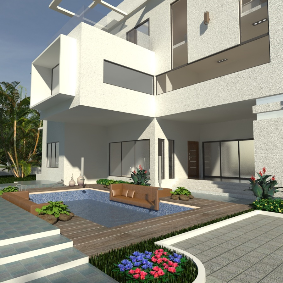 Ejovi Residential Building Abuja. Designed and Rendered for ABI Projects Concepts