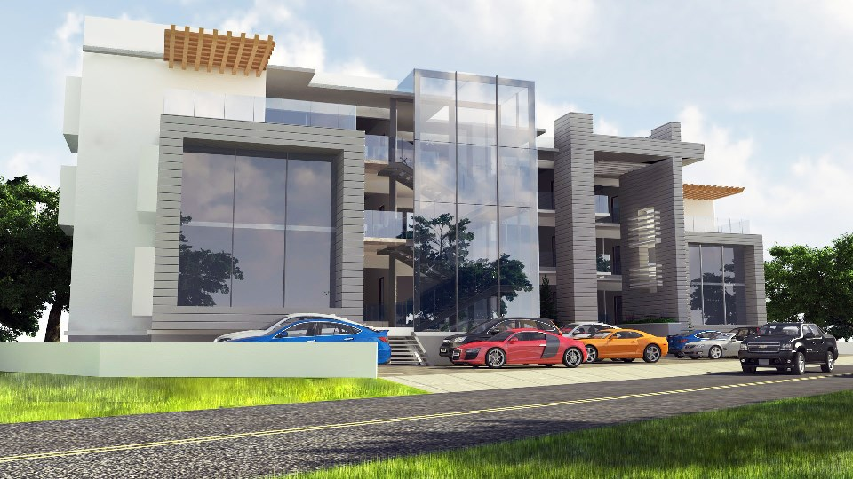 Shopping Mall at Ikate, Lekki. Rendered for ABI Project Concepts