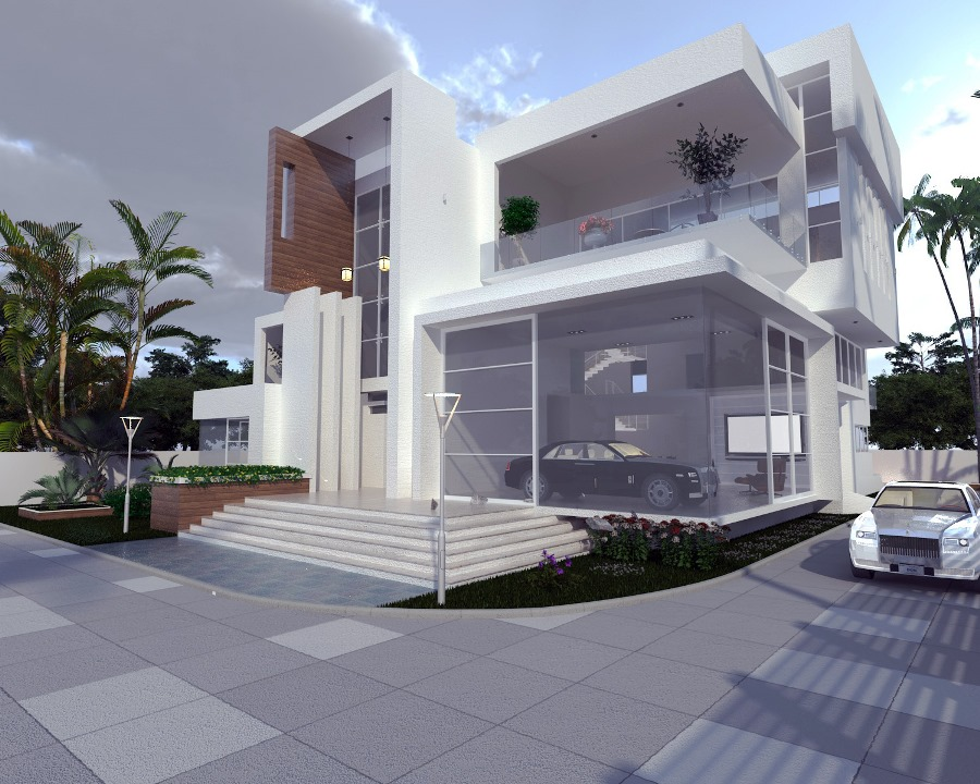 Residential Building at Enugu State. Designed and Rendered for ABI Project Concepts