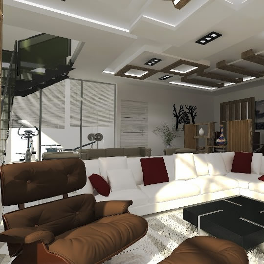 Interior Design of Lounge for ABI Projects Concepts